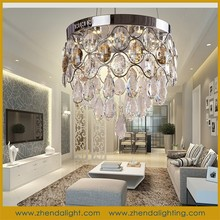 elegent crystal lamp contemporary Chandelier light for Hotel lighting
