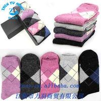 Colored Argyle Custom Ladies Socks , Warm Wool Socks Wholesale , Custom Made Dress