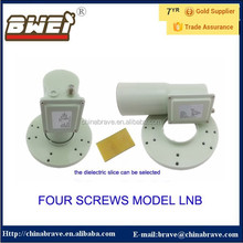 Four screws model c band dual polarity lnb with satellite antenna low rice