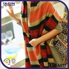 bufandas comprobadas de multicolor para mujer bufandas rayadas