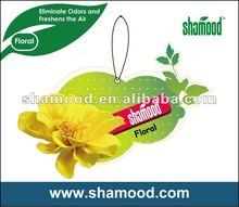 Shamood Manufacturer Paper Car Air Freshener
