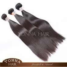 Fascinable high grade hot sale brazilian human hair silky straight wave