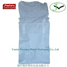 100% pp woven big bag, FIBC, big sacks using for sand and chemical w/t skirt filling spout with low manufactuer price in yantai