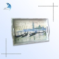 Best selling fashion popular custom printed wooden servicing tray craft