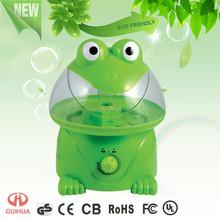 2015 Novel styling Green frog Rotary knob control Large water capacity Ultrasonic Humidifier