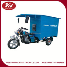 Wholesale Guangzhou powerful blue 250cc air-cooled cargo tricycle for sale with closed cabin