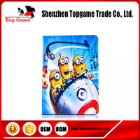 New Type Minions Pattern Flip PU Wallet Leather Case For iPad Air With Holder