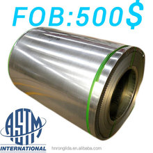 ASTM Standard 0.15-0.7mm thickness galvanized steel coil for roofing sheet