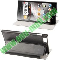 Sheepskin Texture leather flip case for lenovo k900 with stand and sleep function
