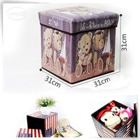 Printing bear leather dice stool manufacturer