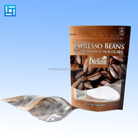 stand up plastic food packaging bag with window