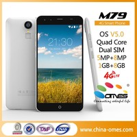 """Best Choice Middle End Fingerptint M79 5.5 inch HD IPS MT6735 Quad Core Android 5.1 OEM 4G LTE 5.5"""" Mobile phone"""