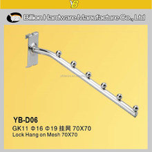 YB-D06 professional mesh or net clothes display hook gridwall hook