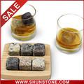 Reutilizable piedra rocas de hielo cubos de vino, Whisky Scotch esteatita glaciar Cold Stone Ice Cube rocas, Whisky Slpping piedra C