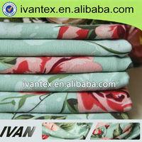 Fashion new design 100% viscose printed spun rayon fabric