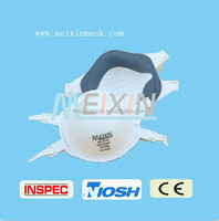 Meixin 2015 disposable masks for industry/Moulded Valved Respiratory Masks FFP3 Pack of 20