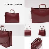 2016 New designer tote bag for Business women handbag with shoulder stripe