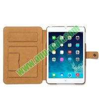 Notebook Style Genuine Leather Cover for iPad Mini Retina Case