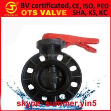 "BV-SY636 API / JIS /KS 2"" 3"" 4"" 8"" 12"" wafer PVC/iron/stainless steel butterfly manual valve"