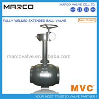 Professional supply fully welded type underground buried extend or extension stem ball valve