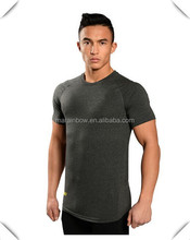 custom made men's slim fitness dri fit polyester lycra muscle gym t-shirt wholesale made in China