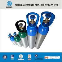 High Pressure GB9809/DOT/TPED Aluminum Oxygen Bottle Gas Bottle