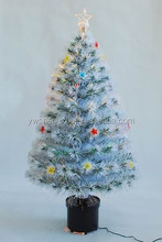 2015 New Arrival Small Optical Fiber Led Lighted Plastic Crystal White Christmas Tree