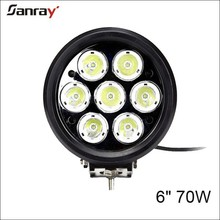 6 inch 70w 4x4 auto accessories LED work light for agricultural machiney/motorcycle/vehicles