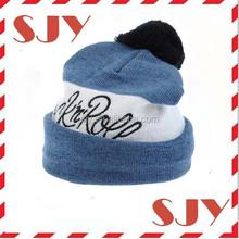 Baby acrylic beanie hats handmade children's fur pom pom hats
