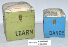 wholesale antique wooden trunk for storage