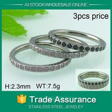 high polish cheap man titanium silver 316l stainless steel rings