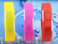 2015 Fashion Sports Ultra Thin Silicone Digital LED Sports Bracelet Wrist Watch,many colors assorted