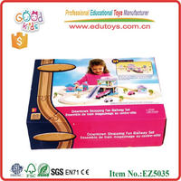 Child Educational Wooden Track Toys Funny Vehicle Train Sets- 51pcs Train Track Toys