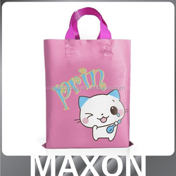 HOT Soft loop handle die cut bag plastic shopping bag,plastic bag