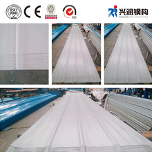 Coated Surface Treatment and roof and wall Application 22 gauge corrugated steel roofing sheet