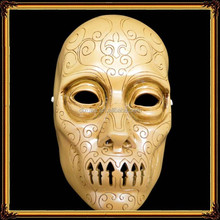 Terror Halloween mask resin death eater mask harry potter wand resin handicraft