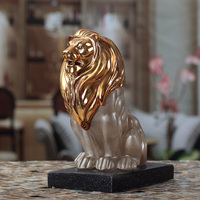 Gold lion king statues /sculpture made by resin for sale