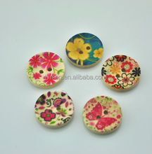 2-hole 18mm wood sewing buttons natural wood painting buttons DIY decoration MM-069