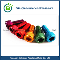BCK1229 customize high quality different color aluminum screw/head/thread