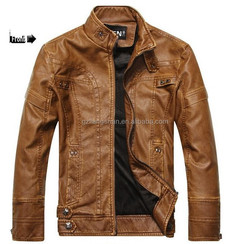 Men slim fit leather jackets cool coat leather motorcycle fleece jacket motorcycle