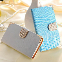 Luxury Bling PU Leather Case Wallet Style Phone Bag Shining Rhinestone Cover For Samsung Galaxy S4 I9500