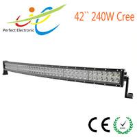 "Jeep wrangler High lumens 42"" 240W Cree LED curved light bar for offroad,SUV,ATV,UTV,TRUCK"