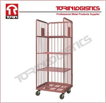 Logistics Insulated steel wire mesh cargo warehouse roll container (L800*W712 mm/OEM)