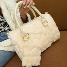 New 2015 winter plush bag Korean boom peach shoulder bags diagonal fashion female prepuce Schock wholesale