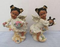 Stock resin black baby crafts