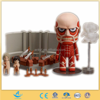 Empty Attack on Titan: Colossus Titan set,Soft Vinyl Anime Action Figure, Wholesale Anime Shingeki no Kyojin figure toys