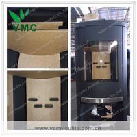 Wood burning stove vermiculite fireproof board