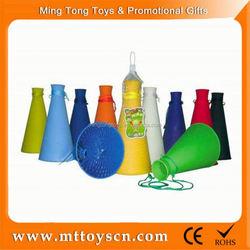 Plastic Soccer Fans horn Toy colorful plastic horn