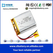 lipo battery 103450 3.7v 1800mah small lithium polymer battery for MP3 blutooth mini speaker