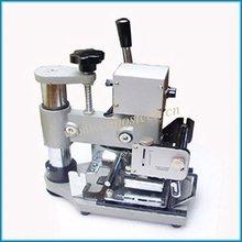 Estampación en caliente de tarjetas de PVC Manual máquinas Volquete para hacer tarjetas de pvc